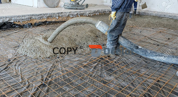 Cement hose for building