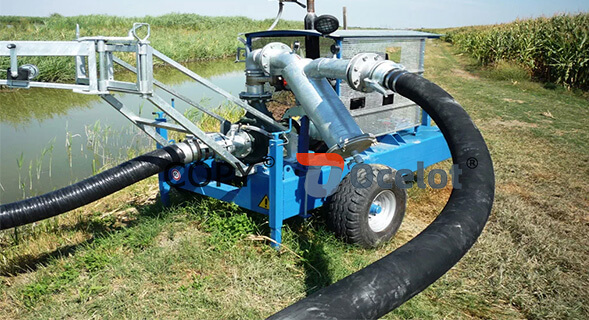 sand pumping pipe working